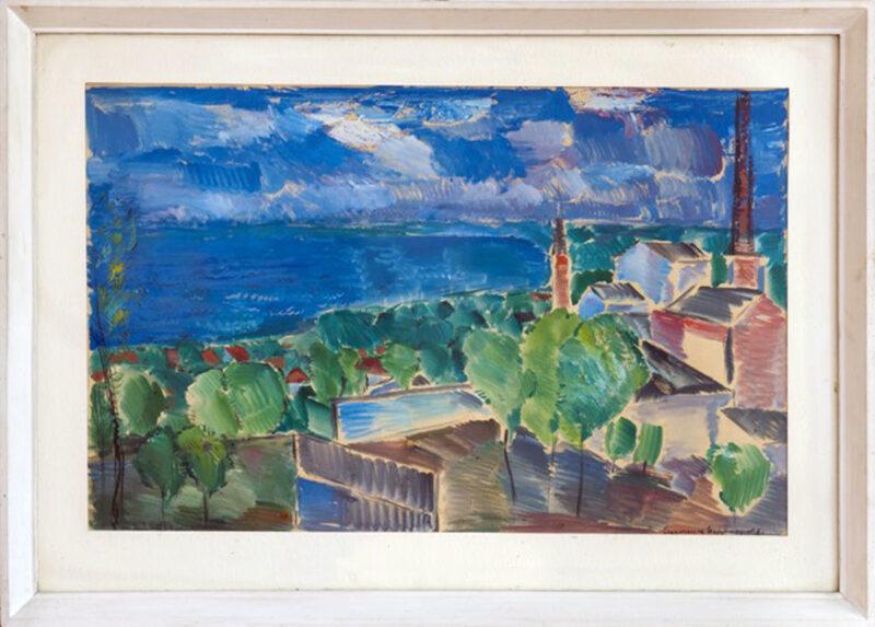 Eugeniusz Gepperta, bez tytułu, 1961, gwasz na papierze, wym. 54,5 x 85,5 cm