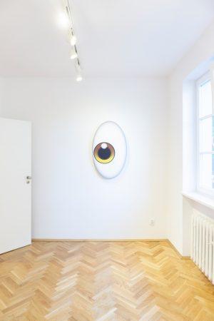 Mariusz Maślanka, Great Eye I, 2018, Plexiglas, aluminium, plastik, 100 x 60 x 30 cm